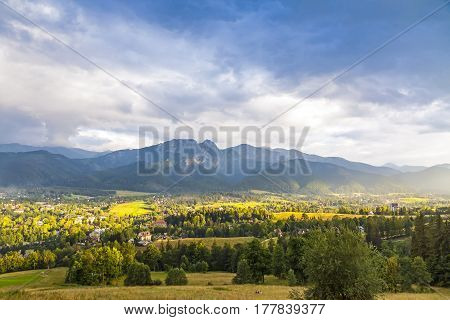 View Of Zakopane City, Western Tatras, Poland