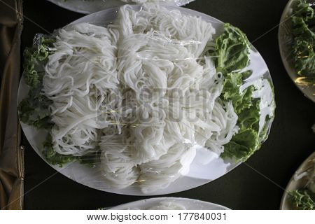 Rice vermicelli are a part of several Asian cuisines where they are often eaten as part of a soup dish stir-fry or salad. One particularly well-known slightly thicker variety comes from the southern Chinese city of Guilin where it is a breakfast staple.