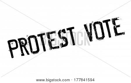 Protest Vote rubber stamp. Grunge design with dust scratches. Effects can be easily removed for a clean, crisp look. Color is easily changed.
