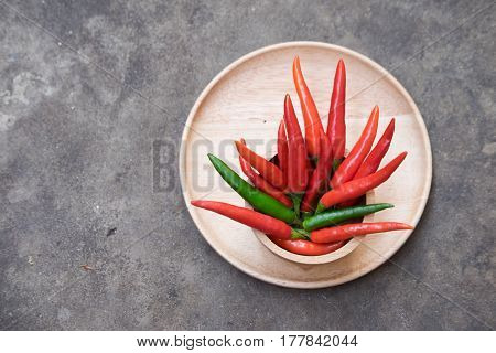 red chillis and green chilli for cooking