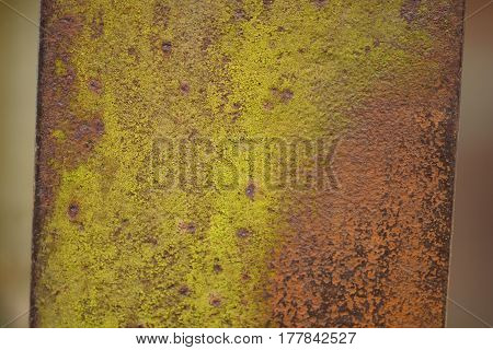 A piece of rusty metal. Rusty metal texture.
