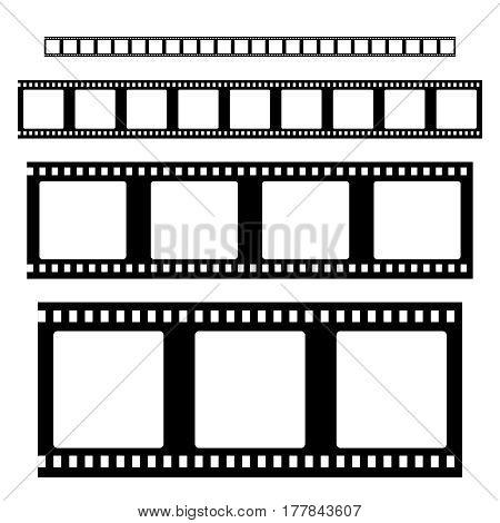 Filmstrip  set  vector . Empty Film strip frames