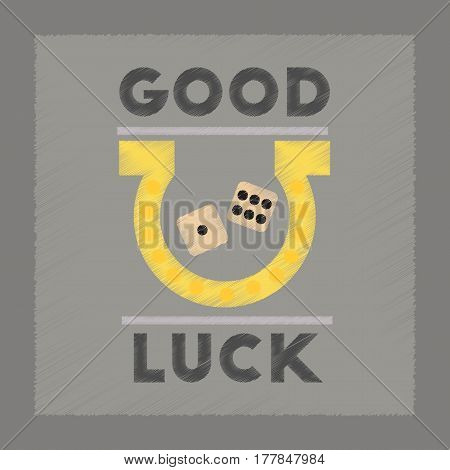 flat shading style icon poker good luck logo