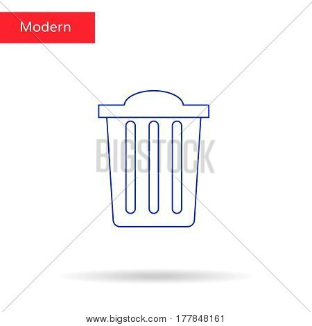 Recycle bin vector icon. Reuse or reduce symbol.