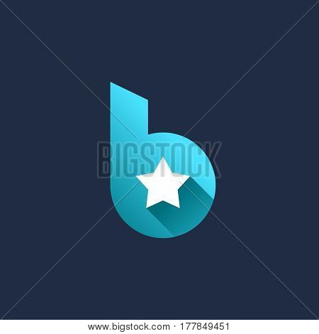 Letter B Star Logo Icon Design Template Elements