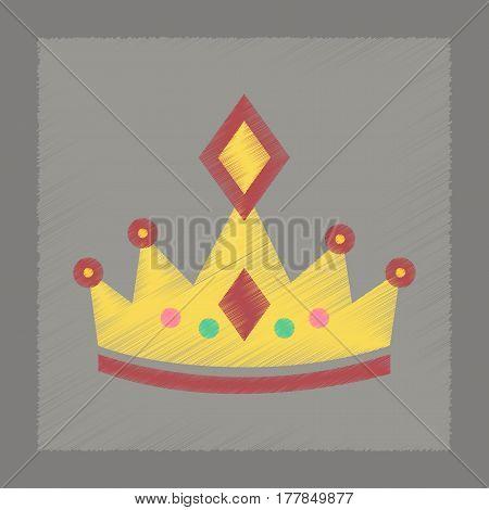 flat shading style icon poker crown royal