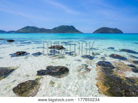 Ko khai Satun: beautiful beach in thailand andaman sea