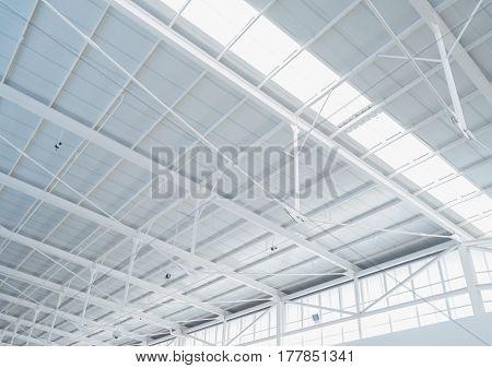 beautiful white roof design interior architecture background