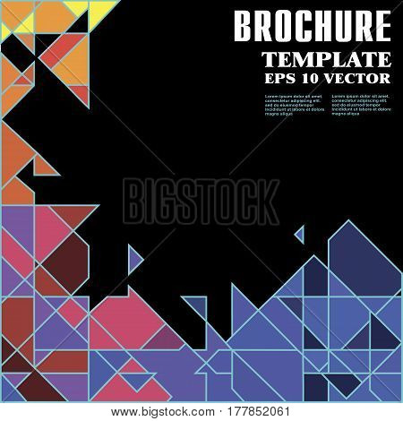 Stock, Vector, Abstract, Geometric Background, Triangle And Square