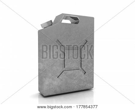 Fuel Container Canister. 3D Illustration Isolated On White