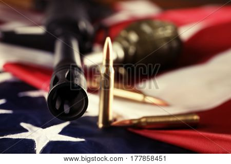 Military set on American flag