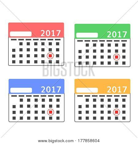 calendar mockup set with  lead round date