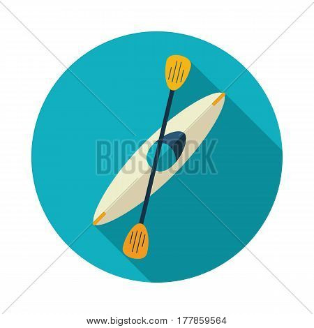 Kayak icon. Canoe vector. Beach. Summer. Summertime. Holiday. Vacation eps 10