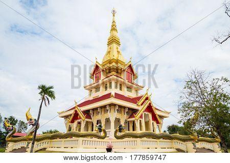 Temple in Thailand Wat SrithammaramYasothonThailand. buddhism ancient