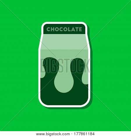 paper sticker on stylish background of coffee chocolate package