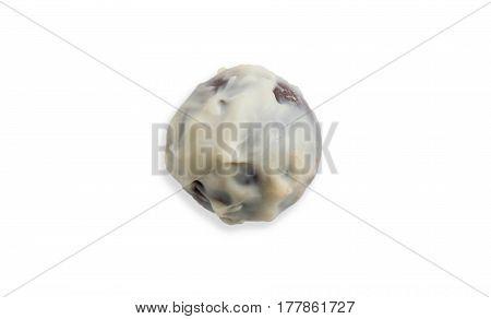 Chocolates confectioner truffle chocolate isolated on white