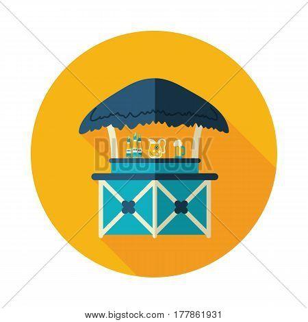 Cafe Bar bungalows on the beach vector icon. Beach. Summer. Summertime. Holiday. Vacation eps 10