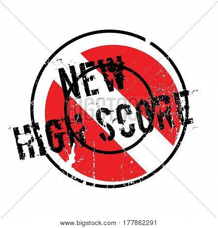 New High Score rubber stamp. Grunge design with dust scratches. Effects can be easily removed for a clean, crisp look. Color is easily changed.