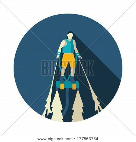 FlyBoard FlySurf vector icon. Beach. Summer. Summertime. Holiday. Vacation ride water sport eps 10