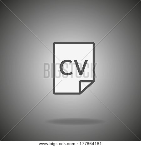CV icon. Vector concept illustration for design.