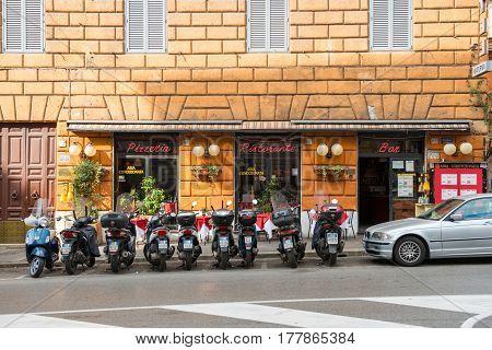 Small Pizzeria In Rome