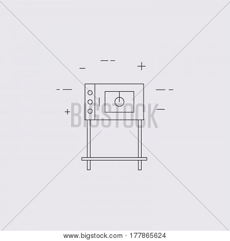 Commercial Oven Line Icon Isolated