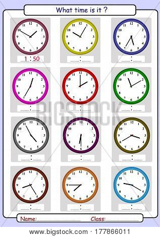 What time is it, What is the time, draw the time