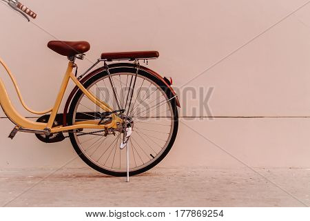 bicycle and The cement floors vintage classic old background