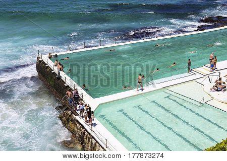 Bondi Baths At Sydney, Australia