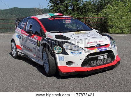 Neirone Italy - June 05 2015 - Rally Lantern: The Ford Fiesta wrc crew
