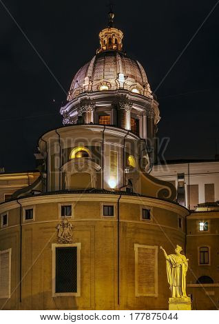 Sant'Ambrogio e Carlo al Corso (usually known simply as San Carlo al Corso) is a basilica church in Rome Italy. Evening