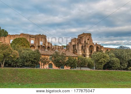 Ruins of the Domus Augustana on Palatine Hill in Rome