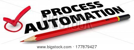 Process automation. The check mark