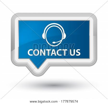 Contact Us (customer Care Icon) Prime Blue Banner Button
