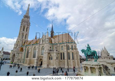 Matthias Church Is A Roman Catholic Church Located In Budapest, Hungary