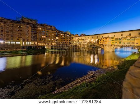 Bridge Ponte Vecchio in Florence - Italy - architecture background