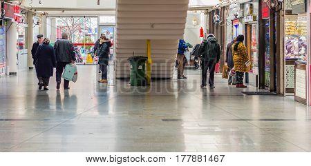 Eskisehir, Turkey - March 13, 2017: People Walking  In The Covered Market