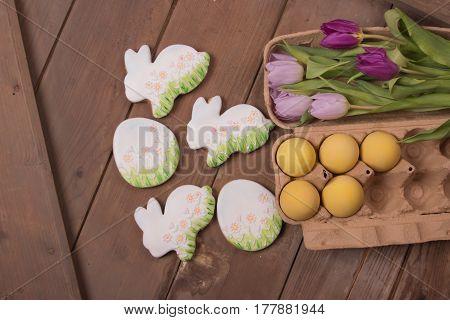 Gingerbread Cookies, Easter Bunny, Eggs Flowers