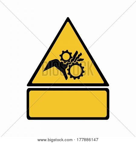 Crushing of hands sign vector design isolated on white background
