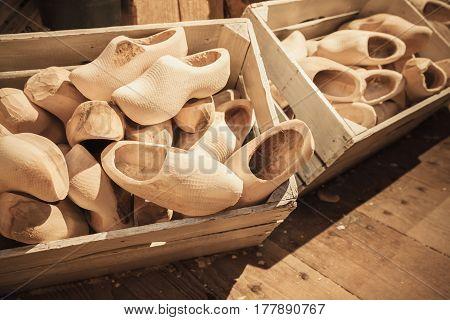 Boxes Full Of Сlogs Made Of Poplar Wood