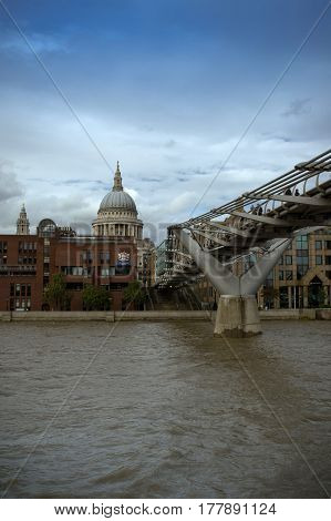 view of st.paul's cathedral from the millennium bridge