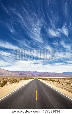 Endless Desert Road, Travel Concept.