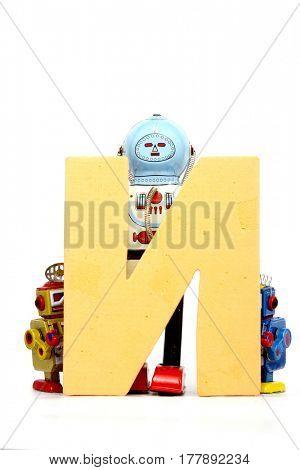 Big letter N