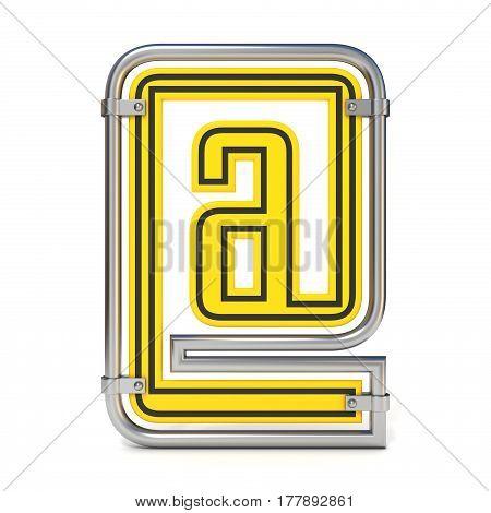 Framed Traffic Road Sign E-mail Symbol 3D