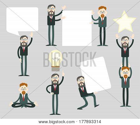 Businessmen with speech bubbles. Businessmen with speech bubbles.