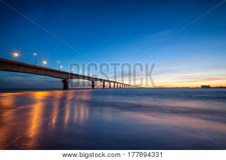 The beautiful bridge of the Ile de Re