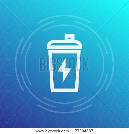 Sport shaker line icon, sign, vector illustration