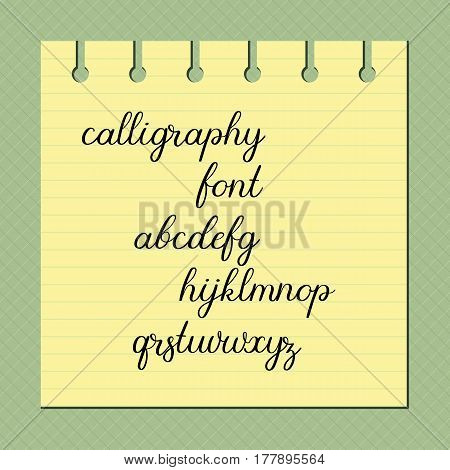 Hand lettering alphabet. Calligraphy vector font. Handwritten letters for wedding decoration greeting card logo poster banner.