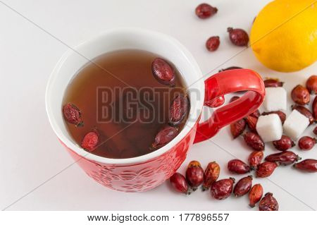 Rosehip Tea With Lemon