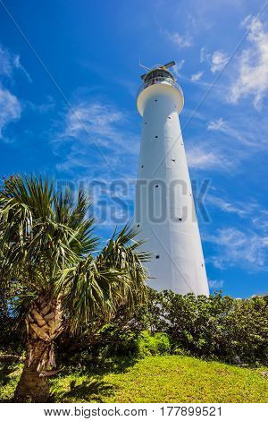Looking up at the Gibbs Hill Lighthouse in Southampton Parish Bermuda.